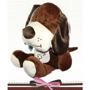 Perro de peluche con bufanda