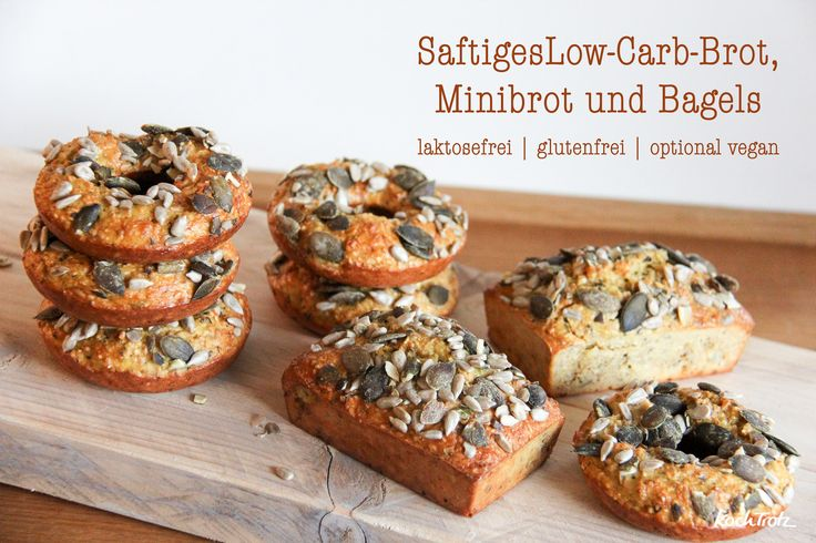 Saftiges Low-Carb-Brot, Minibrot oder Bagels |glutenfrei, laktosefrei, fructosearm|optinal vegan - ein paar News für 2016 und meine Meinung zu Low-Carb