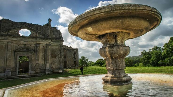 Chiesa di San Bonaventura, Monterano, Italy. Photo by Piero Persello #fountain #ghost #city #ruins #set #film  more info: http://it.wikipedia.org/wiki/Monterano