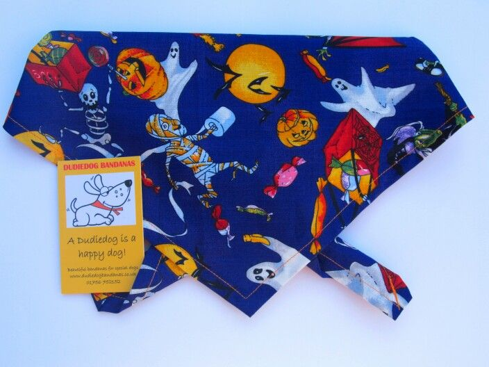'Spooky Dude' halloween bandana by Dudiedog Bandanas - 18 Best Halloween Ideas For Dogs Images On Pinterest Halloween