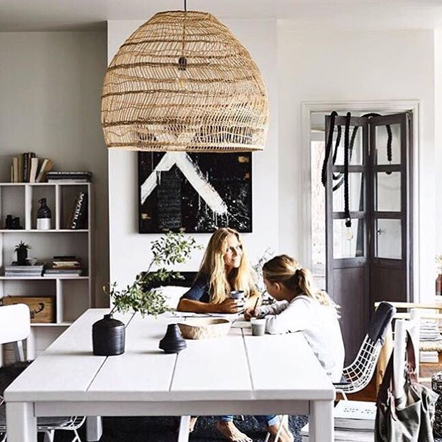 Our latest photo shoot for our recently completed  #beachouse #sorrento #project #victoria #australia by #houseoforange #hkliving #hklivingaustralia  Stunning photography by @derek_swalwell and styling by @becksimonstylist  Centre of shot features our table #madetorder plus loads of #hkliving #wicker #dome #pendant and #newcollection #ceramics #wire chairs #rope light #wooden screen  Artwork featuring local #Melbourne #artist @katrinacarterart via @montreux_trove - thank you !