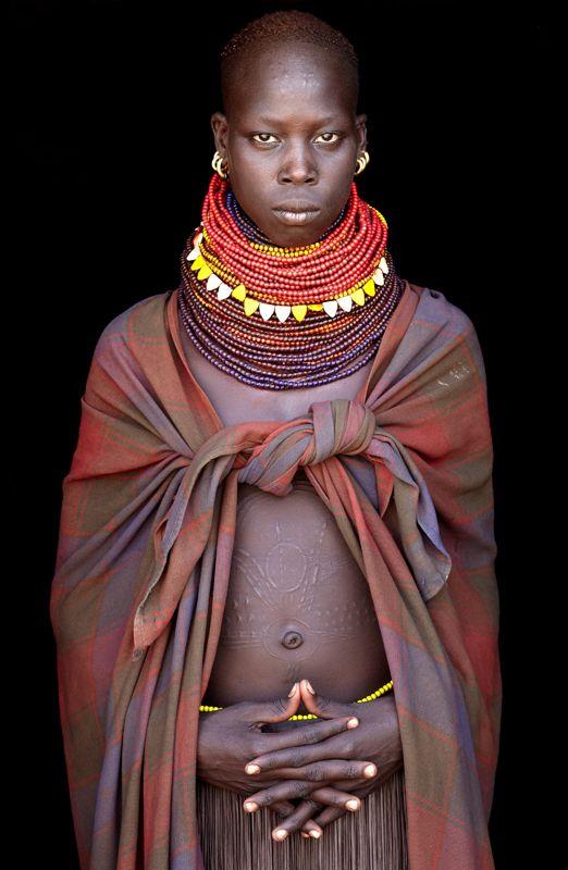 "Africa | ""Kangatan"". Nyangatom girl from the Omo Valley, Ethiopia | ©John Kenny"