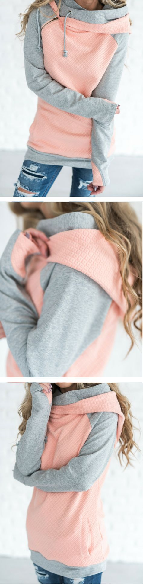 all sales June 6th are F I N A L S A L E. Our most popular piece and for good reason! This hoodie is the cutest way to stay comfortable and cozy while remaining dang cute! It's zipper detail adds a fu