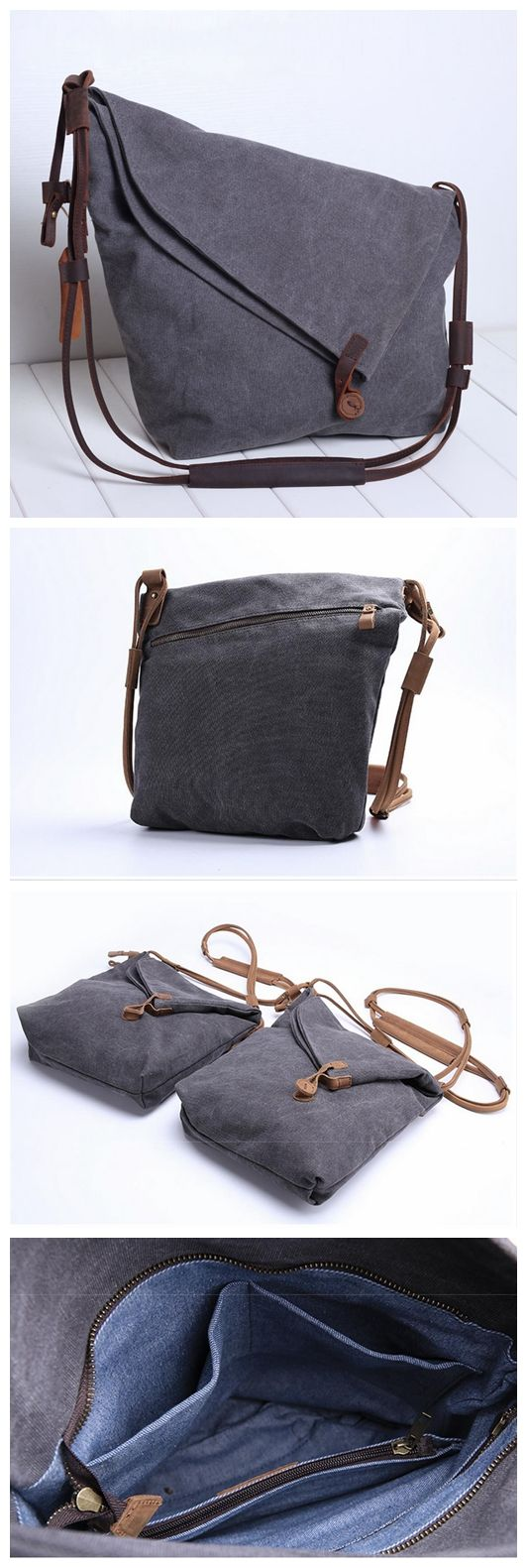 LEATHER CANVAS BAGS, SHOPPING TOTES, CROSSBODY CANVAS BAGS, CANVAS SHOULDER BAG JC001