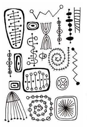 Retro Beadprints Deeply Etched Rubber stamp for Clay