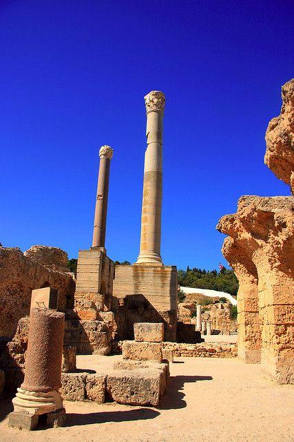 Colonnes Carthage, Tunis, Tunisia