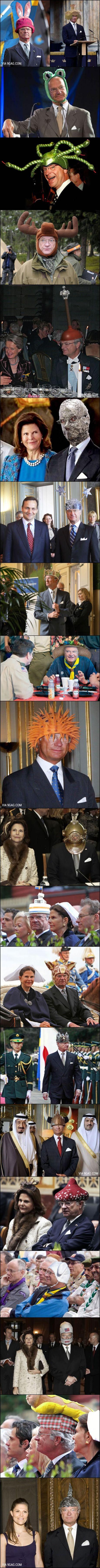 Haha, en del hattar passar honom verkligen, han borde köra hovnarren lite oftare...