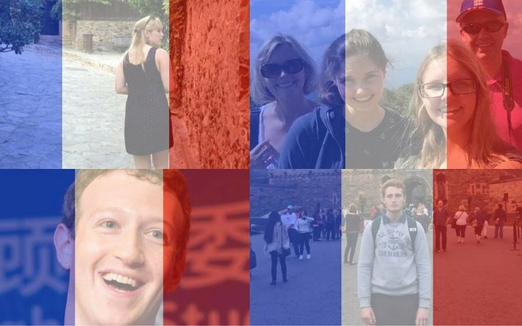 Many people have activated Facebook's tricolour filter to show solidarity with   Paris