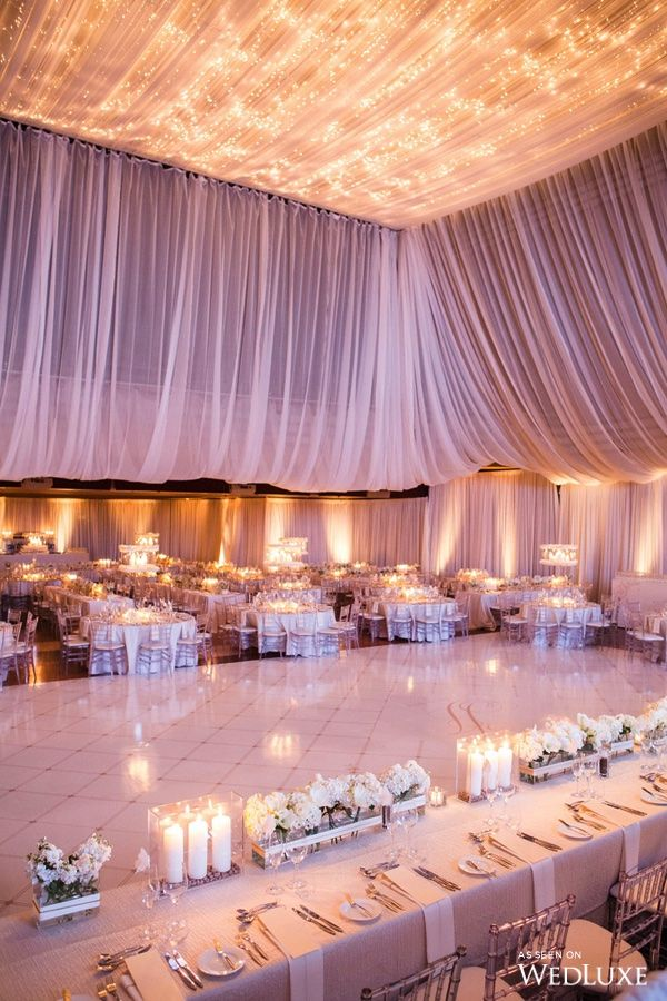 drapes fabric decoration banner how to receptions tutorial wedding a measure hang hall for and draping ceiling