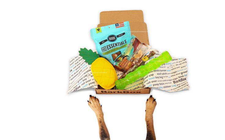 Get a monthly box of treats, toys & products for your pup! Plans start as low as $19/month, all treats made in USA or Canada and we donate 10% of profits support rescue groups!