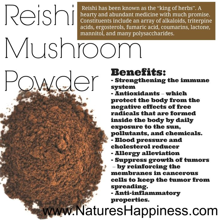 Reishi Mushroom Powder is dried at a very low temperature and ground into a fine powder. It can be mixed into smoothies and any other preferred beverage.