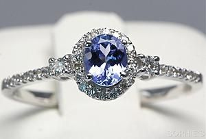 Oval Cut Tanzanite Diamond Solitaire Engagement Ring 14k White Gold Size 6 5 | eBay