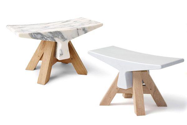 Bone, modern stool by Cédric RAGOT  for YMERModern Stools, Malta, Cédric Ragot, Marble Wood Furniture, Furniture Indoor, Ragot Ymer, Products Design, Bones Cédric, Cedric Ragot