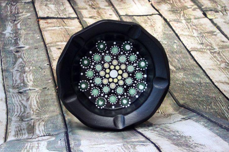Mojito Jewel Drop Mandala Bowl by PaintedPenguinDesign on Etsy