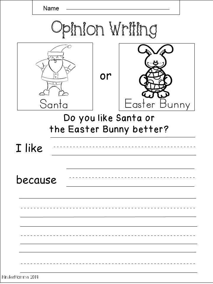 Free Kindergarten Christmas Writing Worksheet In 2020 Kindergarten Writing Prompts Kindergarten Writing Opinion Writing