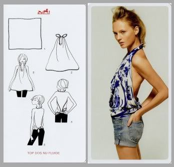 favorite way to reform a scarf for the summer! I would definitely be wearing a tank top or bathing suit top underneath!
