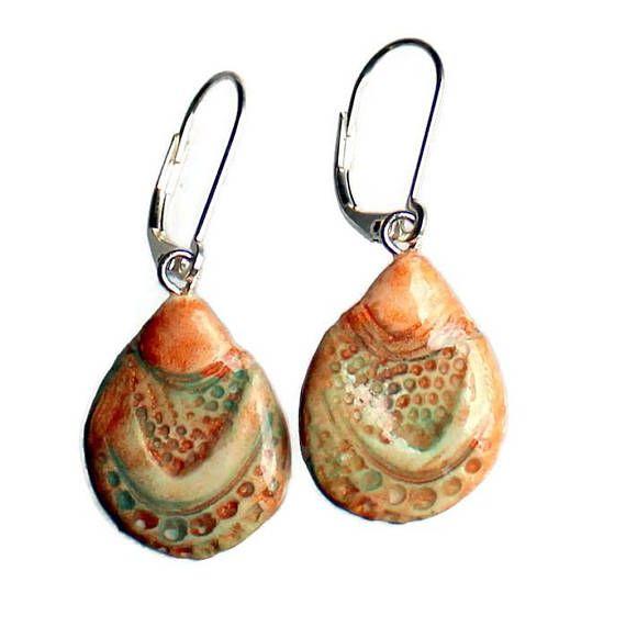 Koi Fish Bohemian Earrings  Teardrop Dangle