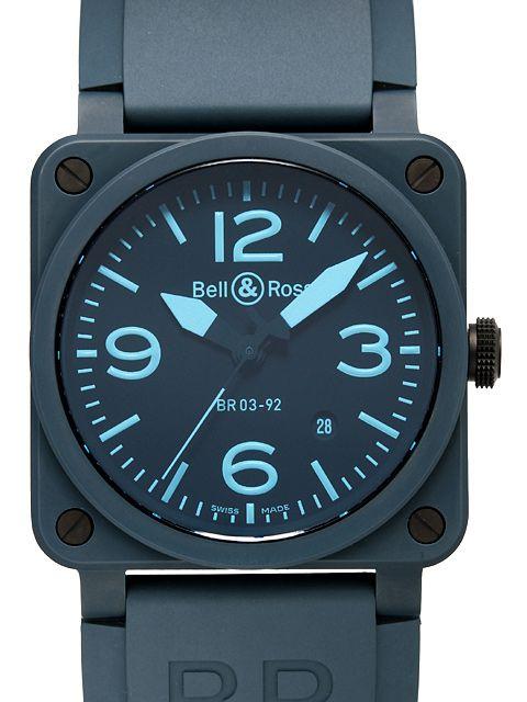 ベル&ロスコピー BELL&ROSS BR03-92 BLUE C-R プロタイタニウム クロノグラフコピー激安 | ベル&ロススーパーコピー時計通販専門店!