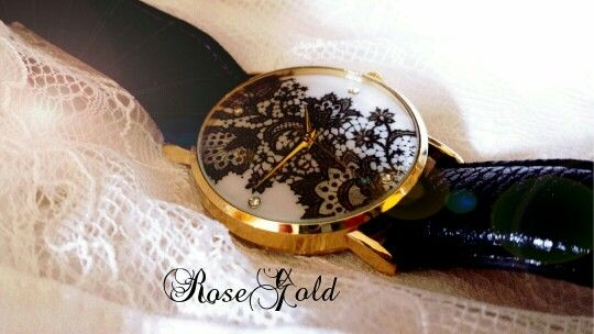 Orologio effetto pizzo Lace watch Shop: https://m.facebook.com/RoseGoldBijoux