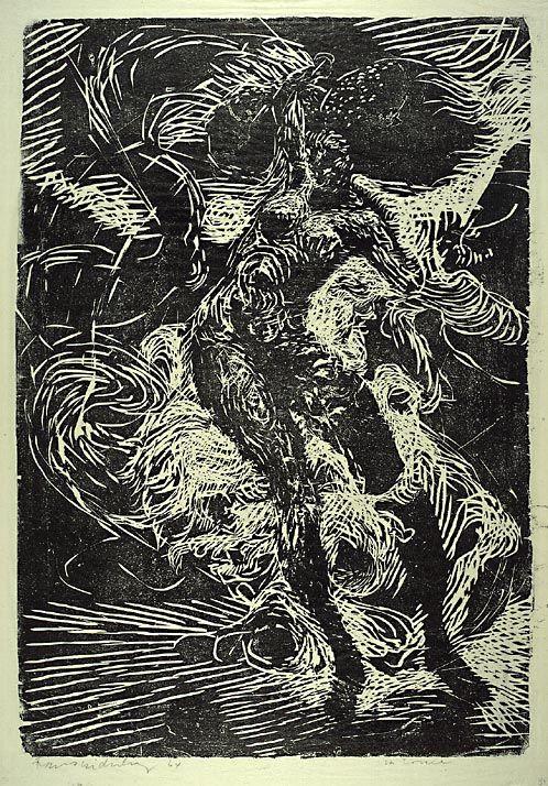 (1964) (plate) / 1964 (trykk). Tresnitt på papir. ©Widerberg, Frans/BONO