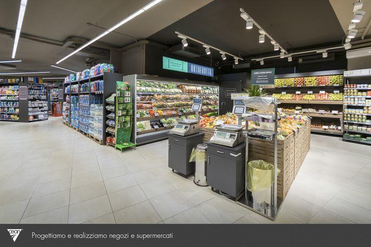 Ristrutturazione completa - Simply Market Via Togliatti 4 - Trofarello (Torino) Restyling del punto vendita in soli sei giorni: stessi mq,  maggiore spazio a disposizione del cliente e delle vendite! #retail #progettazione #new #foodretail #market