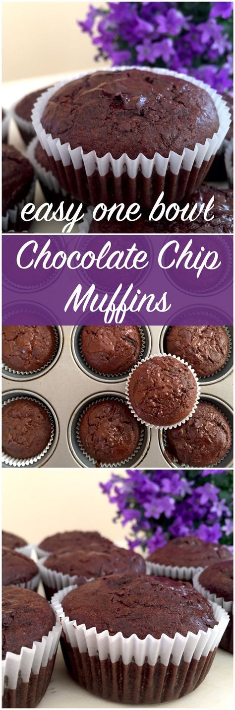 Need to make a batch of delicious fluffy muffins? I think we have got the perfect recipe for you - Chocolate Chip Muffins! These healthier one bowl muffins are quickly made and you are never wrong with chocolate chip muffins, are you?