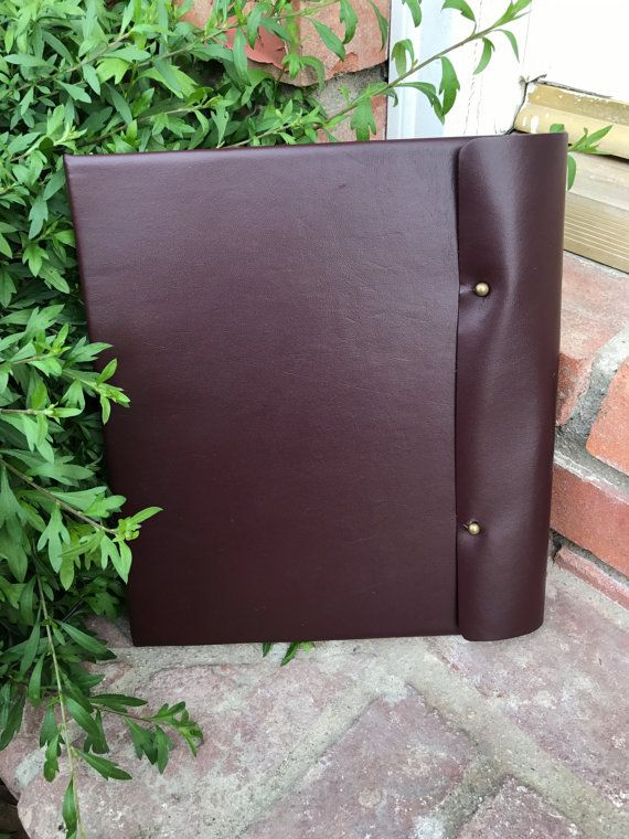 Leather Three Ring Binder - Handmade by talesfromthejourney. Explore more products on http://talesfromthejourney.etsy.com