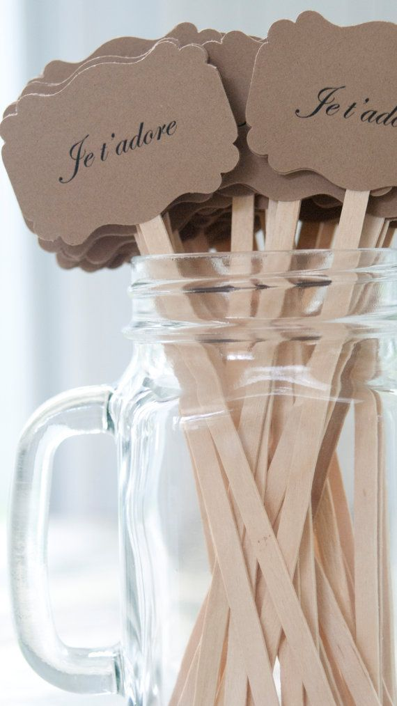 Wedding Drink Stirrers French Themed Wedding Je Tadore Paris Themed