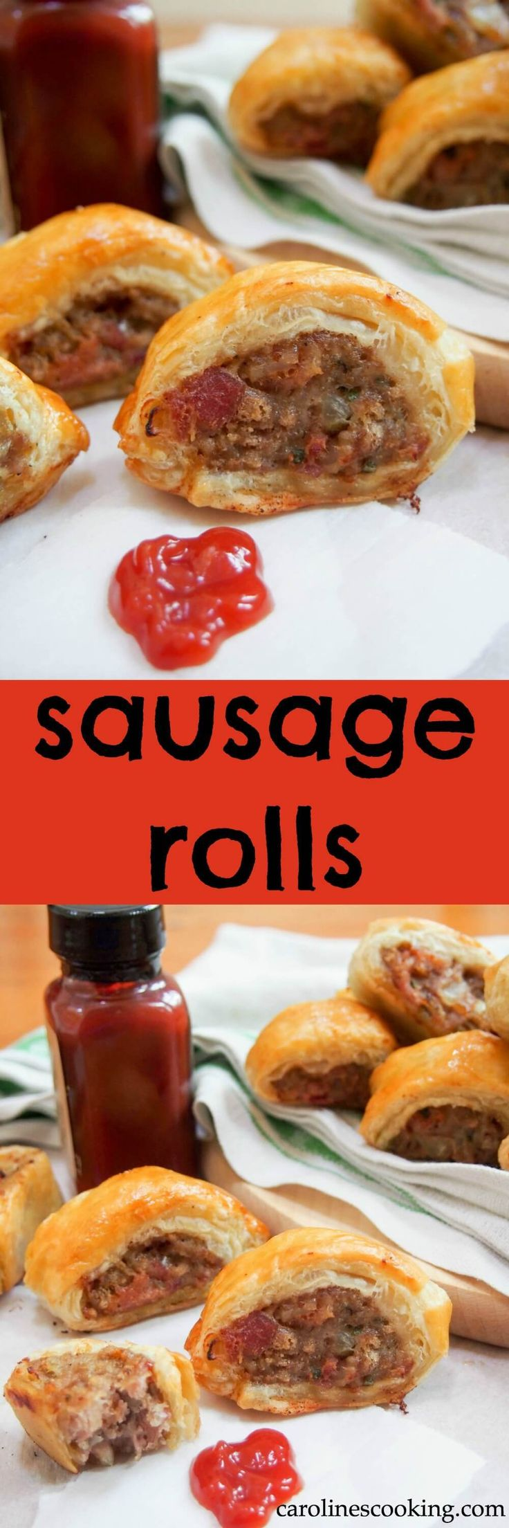 Sausage rolls are a British classic, whether late night snack or party appetizer. Comforting and even better when you make them yourself! (includes how-to video)