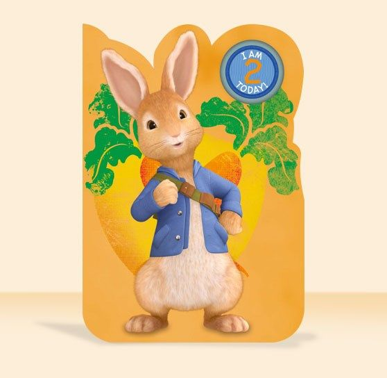 Peter Rabbit birthday card