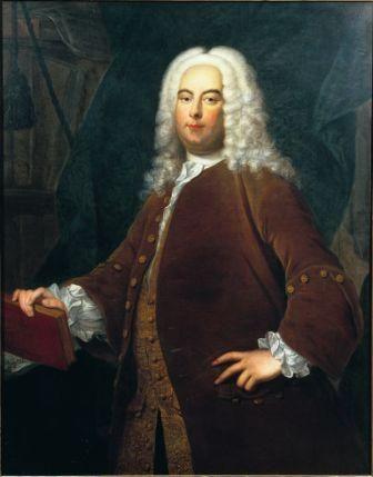 Portrait of George Frederick Handel c.1736 by School of Thomas Hudson (1701-1779) © The Gerald Coke Handel Collection