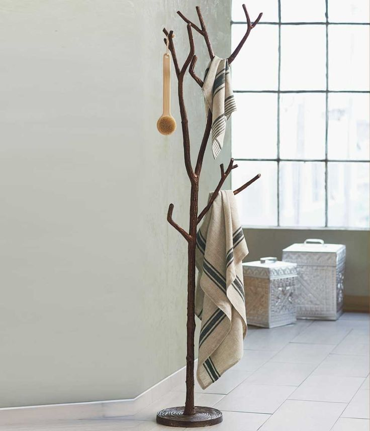 Bronze Branch Coat Tree - Use a coat rack for towels? Why not?
