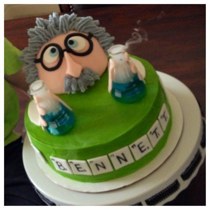 Mad Scientist Birthday Party Cake