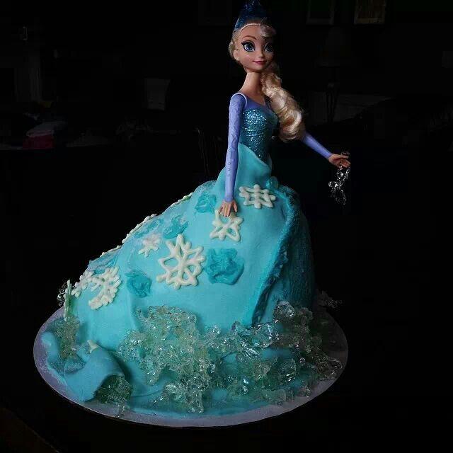 Frozen Birthday Cake, Frozen Dolls, Dress Doll Cakes, Cake Birthday, 1 ...