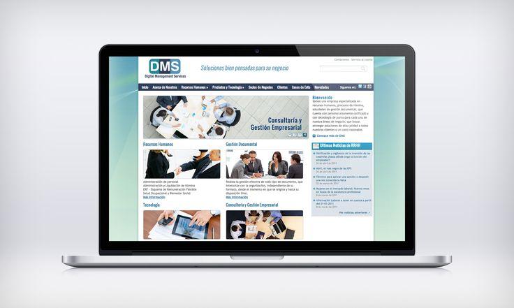 Diseño de Sitio Web DMS (Digital Management Services) implementado sobre Wordpress