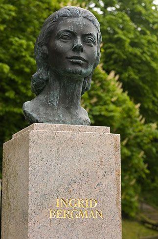 Ingrid Bergman statue, Fjallbacka, Sweden. A favourite place of Ingrid Bergman.