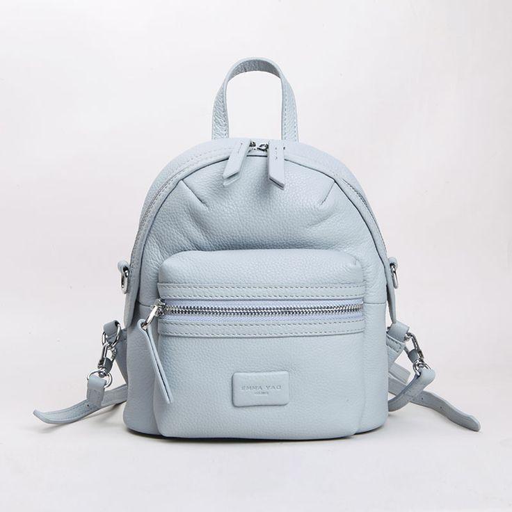 Купить товарЭММА ЯО Бренд моды женщины рюкзак мини натуральной кожи сумка новый маленький сумка в категории Рюкзакина AliExpress.