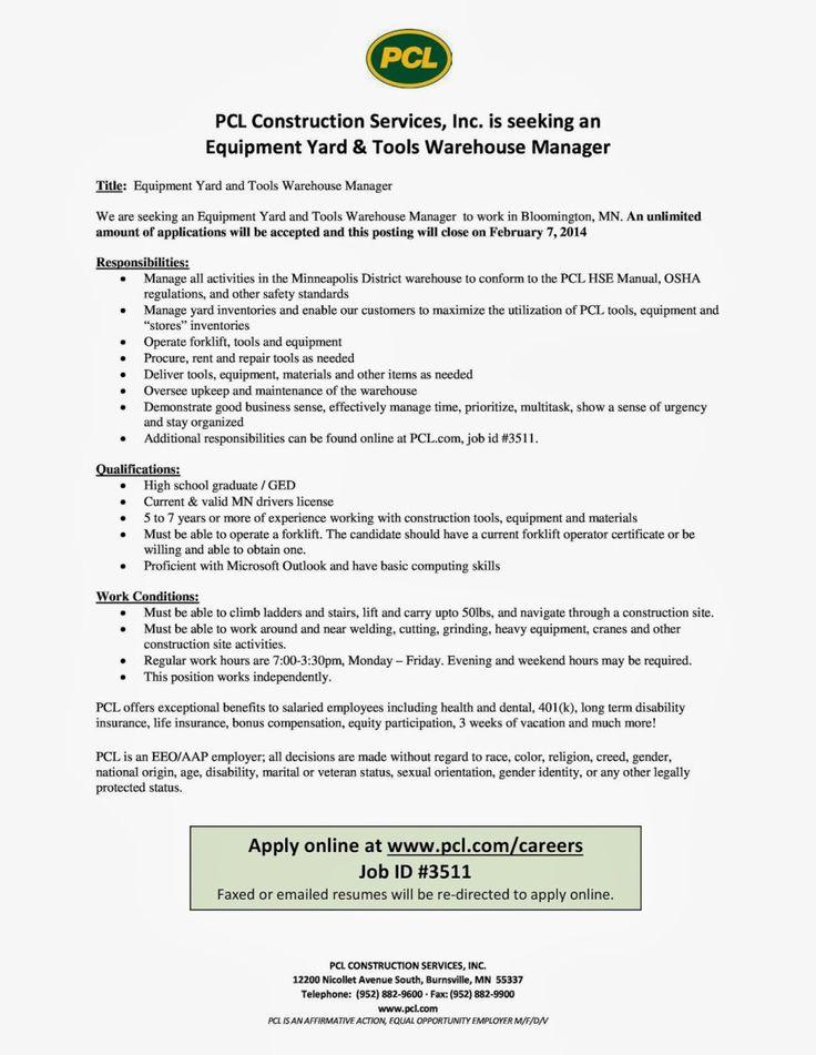 6 Resume Samples for Warehouse Jobs | Sample Resumes