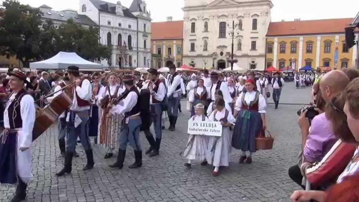 Slovácké slavnosti vína 2015 průvod mikro region Staroměstsko a hosté
