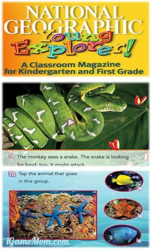 Free magazine on computer or tablet, 7 issues each year, with teachers' guide, available in English and Spanish #kidsapps #FreeApps