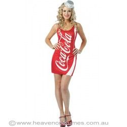 Stay cool and bubbly in this cute little number! Shop for this fun costume now at http://www.heavencostumes.com.au/it-s-bubbly-women-s-sexy-champagne-bottle-costume-1.html #cocacola #coke #heavencostumes #fun #party #dressup #fancydress #costume