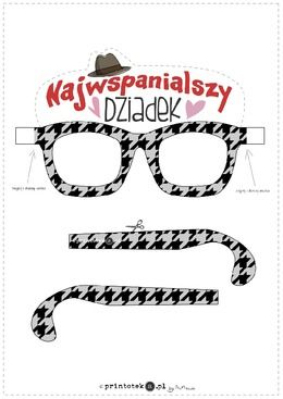 Okulary dla najwspanialszego Dziadka - Printoteka.pl