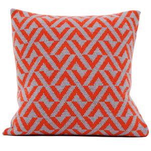 Red + Seal Grey Knitted Geo Cushion - shop by price