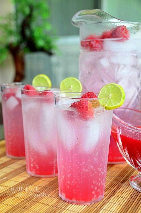 Homemade Raspberry Key Lime Italian Soda.