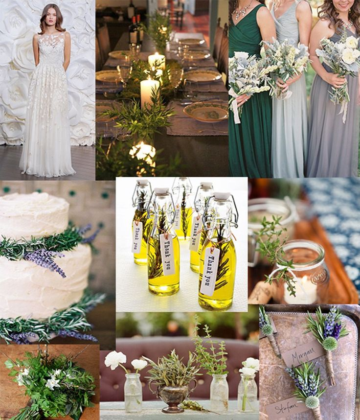 Herb themed wedding