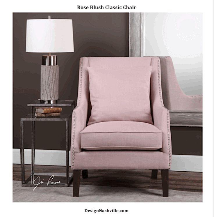 Uttermost Arieat Pink Armchair   Show off your feminine sense of style and  create an inviting seating area with the Uttermost Arieat Pink Armchair. 248 best Accent Furniture images on Pinterest   Antique furniture
