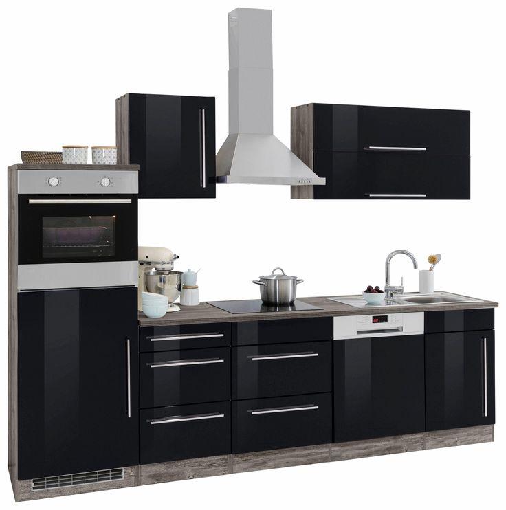 Küchenzeile ohne E-Geräte »Samos« schwarz, pflegeleichte Oberfläche, Held Möbel Jetzt bestellen unter: https://moebel.ladendirekt.de/kueche-und-esszimmer/kuechen/kuechenzeilen/?uid=bc2f3ccd-d422-508f-bcd9-a9c532a931ba&utm_source=pinterest&utm_medium=pin&utm_campaign=boards #kueche #kuechen #kuechenzeilen #esszimmer