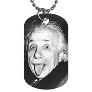 Cute Easter Basket Ideas Boyfriend: For The Einstein Man Albert Einstein Dog Tag with 30″ chain necklace Imprinted in the U.S.A. It measures 1 1/8″ x 2″. Aluminum Dog Tag with 30″ chain necklace.  http://awsomegadgetsandtoysforgirlsandboys.com/cute-easter-basket-ideas-boyfriend/ Cute Easter Basket Ideas Boyfriend: For The Einstein Man