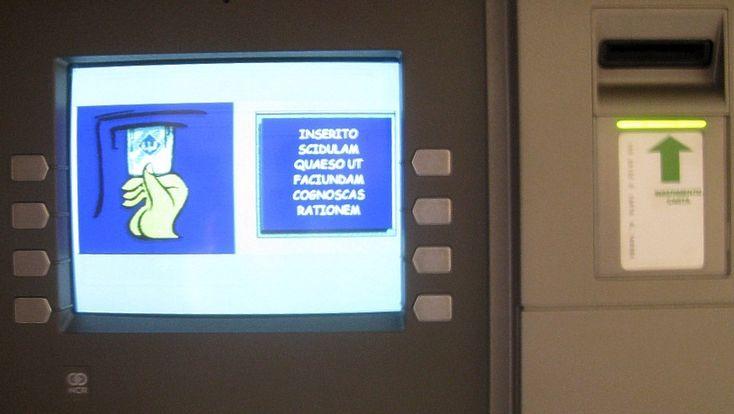 En el Vaticano, el cajero automático (ATM) tiene su menú en latin