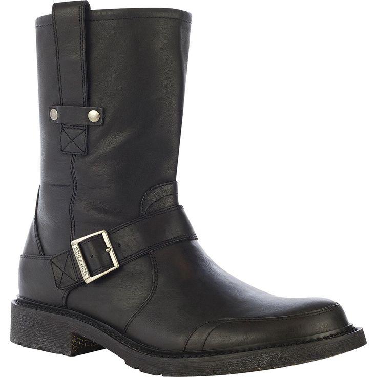 "Men's 11"" Black Leather Engineer Boots - Durango City Chicago - Style #DB5588 - Durango Boot Company"